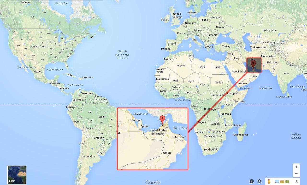 carte du monde dubai